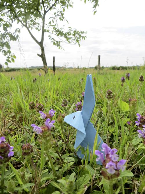 Lapin en papier origami facile la t l des kids - Mon petit lapin s est cache dans le jardin ...