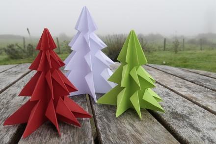 Origami rose cube magique la t l des kids - Sapin en papier origami ...