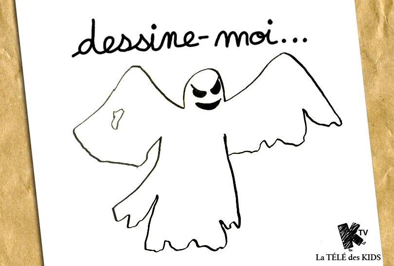 Dessine Moi Un Fantôme Halloween La Télé Des Kids