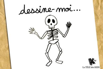 Dessin Halloween Squelette