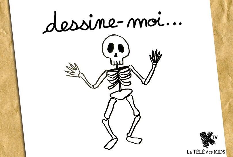 Squelette Dessin Halloween.Dessine Moi Un Squelette Dessin Halloween La Télé Des Kids