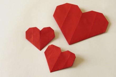 coeur origami facile