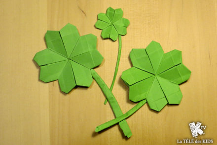 Origami trefle à quatre feuilles